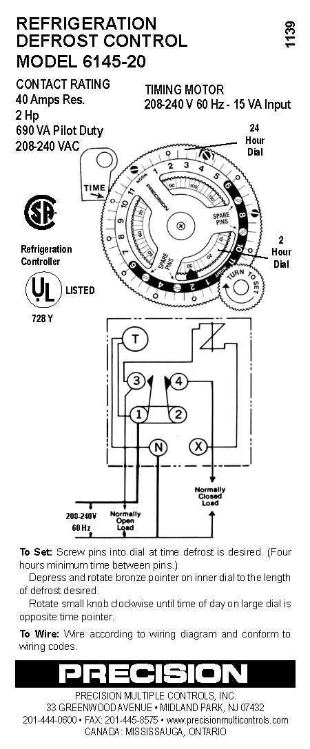 6145 20 precision multiple controls official website your source for defrost timer wiring diagram at honlapkeszites.co