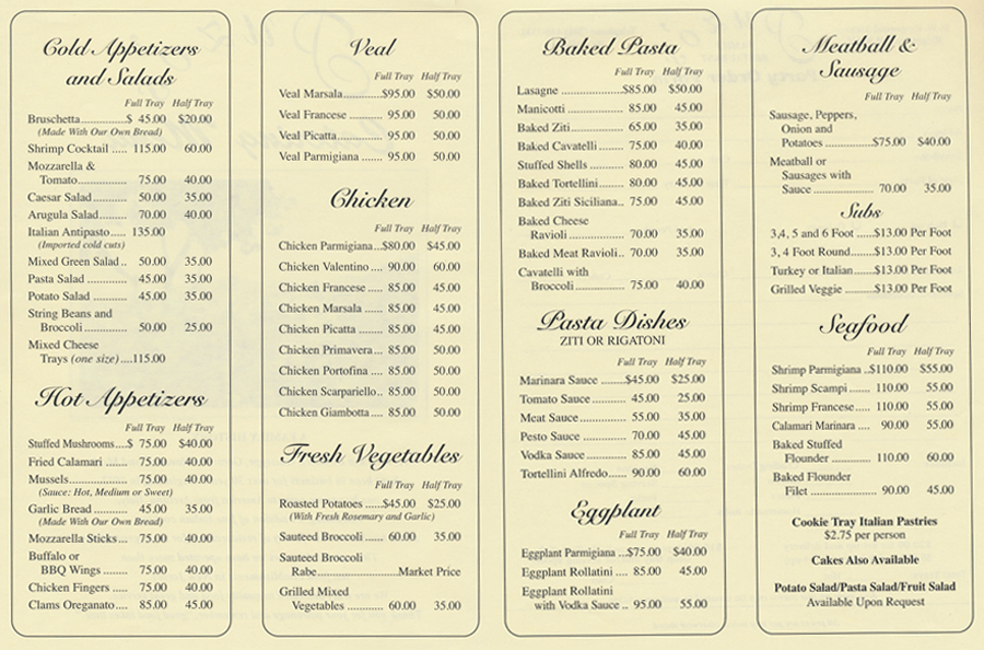 Italian Catering Menu Templates Pictures to Pin – Catering Menu Template Free