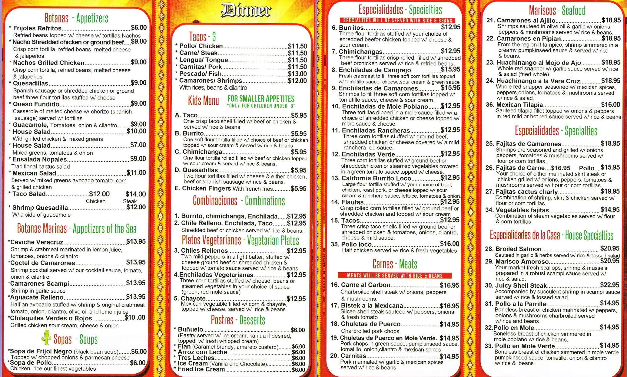 picture about Printable Menus referred to as Reputable Mexican Delicacies Contemporary Tortillas Rooster Tacos